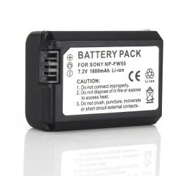 Akku Batterie Ersatzakku für NP-FW50 Sony NEX-3 7,4V 1800mAh