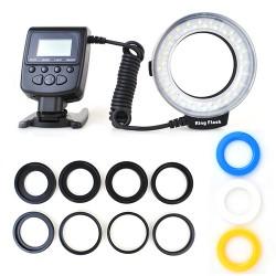 48 Makro LED Ringblitzleuchte Set für DSLR Kamera Blitzgeräte Makro