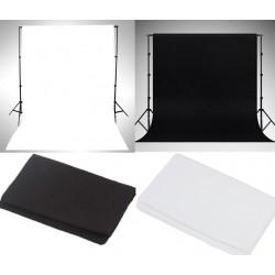 2pcs. Fotografie Studio-Vlies Hintergrund Vliesstoff 2x3M Schwarz Weiß