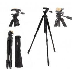 WF6663A Kamerastativ leichtes Alustativ mit 3-Wege-Schwenkkopf Schwarz
