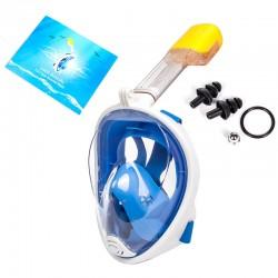 Tauchmaske Vollgesichtsmaske Atmung Schnorchelmaske Gr. L/XL blau