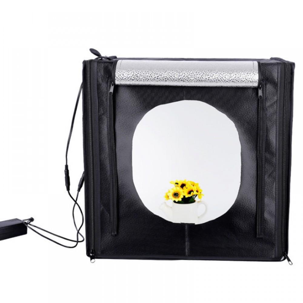 Lichtzelt mit LED Beleuchtung Lichtwürfel 50cm Fotografie ...