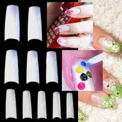 French Nagel Tips künstliche Fingernägel Natur C-Nail-Tips Weiß 500er