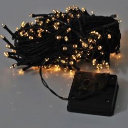 Solarlampe Lichterkette Lichtschlauch 200LEDs Beleuchtung warmweiß