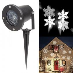 LED Schneeflocke Projektor Weihnachten Beleuchtung Gartenstrahler 1*4W