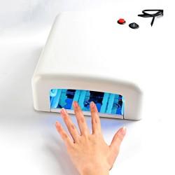UV Lichthärtungsgerät Lichthärtegerät UV-Nagellampe 36W, 4 Röhren weiß