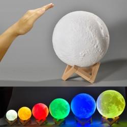 Mond LED Lampe 15cm 3D Printing Nachtlampe Tip-Tap Farbwechsel