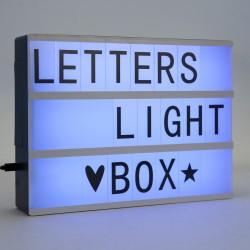 Lichtkasten Leuchttablett Leuchttisch Buchstaben LED Farbwechsel A4