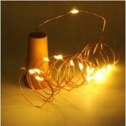 Weinflasche Flaschenlichter Sternenlichter Licht LED Warm-weiß 2m