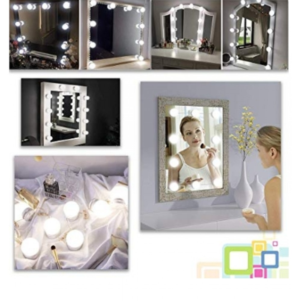 spiegellampe schminkspiegel led make up lampe licht. Black Bedroom Furniture Sets. Home Design Ideas