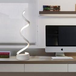 Tischlampe Nachttischlampe Spiral LED mit Kabel 24W für Schlafzimmer