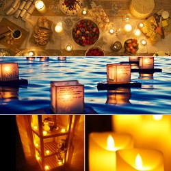 Led Teelicht flammenlose elektrische flackernde Kerzen weiss 12pcs