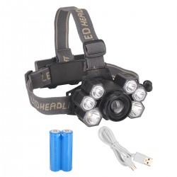 Kopflampe Scheinwerfer Stirnlampe Stirnleuchte LED Kopfleuchte 5 Modi
