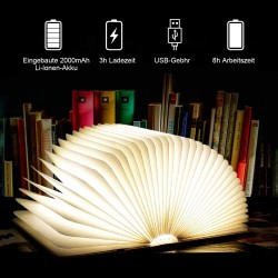 BuchLampe Schreibtischlampe Nachttischlampe Stimmungsbeleuchtung LED