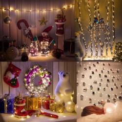Lichterketten für Zimmer Dekoration 10M 100 LED Fotoclips Lichterkette