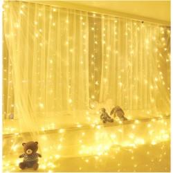 Lichtervorhang LED Innenbeleuchtung 8 Lichtprogramme für Partydekoration