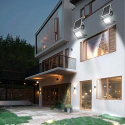 Solarlampen LED Solarleuchte Solar Wandleuchte für Garten mit Panel 10W