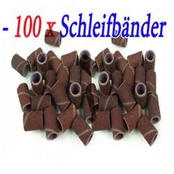Schleifbänder Schleifhülsen 50er Set Schleifkappen Fräser