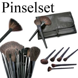 Profi Kosmetik Make up Bürste Pinsel Pinselset schwarz 24tlg