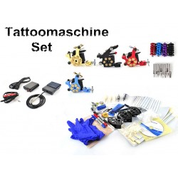 Tattoomaschine Tätowierung Komplettset 4 Maschine Guns Kit Nadeln