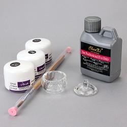Acryl Starterset 15ml Puder Pinsel Liquid Nailart Set
