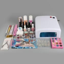 Nagelstudio Nagelset Maniküre UV Lampe UV Gel Zubehör Werkzeug Set