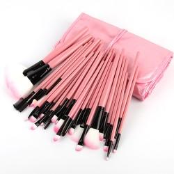 Make Up Pinsel Set 32pcs Mattrosegoldenes Schminkpinsel Kosmetikpinsel