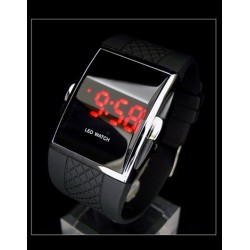 Uhr Luxus Retro LED Digital Armbanduhr Sport Watch Schwarz