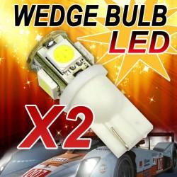 Autolampe Leuchtmittel 2er Standlicht xenon weiß SMD 5050 Birne 5LED