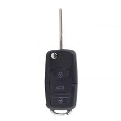 Ersatz Schlüsselgehäuse 3 Taste Autoschlüssel Klappschlüssel für VW