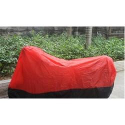 Abdeckplane Motorradgarage Motorradabdeckung Abdeckung schwarz mit rot