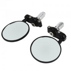 Motorrad Spiegel Lenkerendenspiegel Superbike Lenkerenden rund schwarz