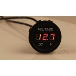 Voltmeter 12V-24V, Digital Anzeige Spannungs Messinstrument für Auto