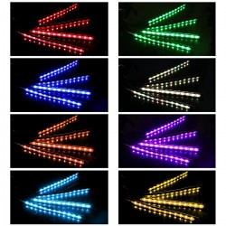 Auto Innenbeleuchtung LED Streifen 4-teiliges Auto Atmosphäre Licht