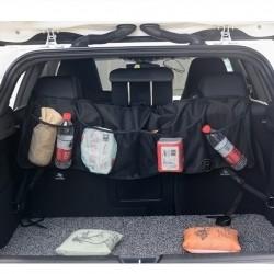 Aufbewahrungstasche Auto Kofferraum Organizer mit 6 Taschen Schwarz