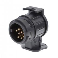 Anhänger Anhängerkupplung Adapter 13 Pin auf 7 schwarz für PKW