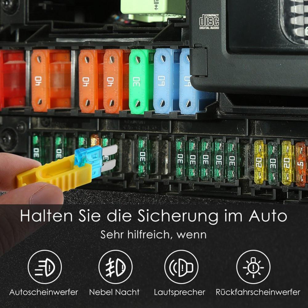 KFZ-Sicherungen Auto Flachsicherung 120-tlg Set Aufbewahrung Autosicherungen