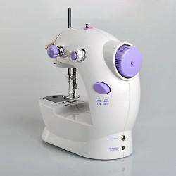 Mini Nähmaschine, Tragbar Nähen, Doppel Gewinde, Mini Sewimg Machine