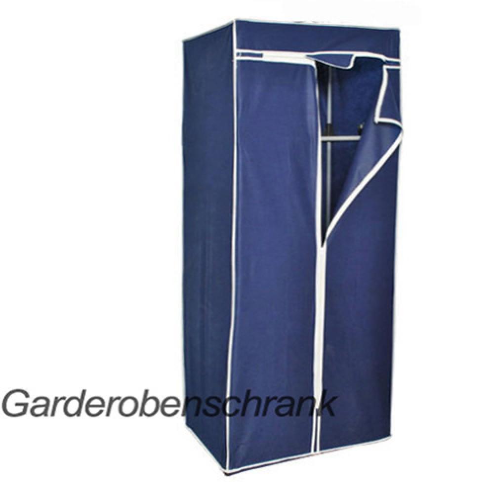 mobiler stoffschrank kleiderschrank faltschrank blau mit. Black Bedroom Furniture Sets. Home Design Ideas