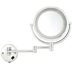 Kosmetikspiegel Schminkspiegel zweiseitig 10-fach Wandspiegel Edelstahl
