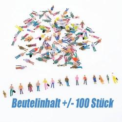 Figuren stehende Figuren DIY Modellbahn Spur 1:100 als Zuggast 100pcs