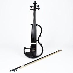 Elektrisch Geige Silentgeige Komplettset 4/4 with bow mit Bogen schwarz