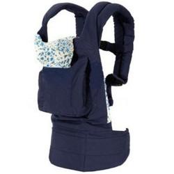Babytrage Tragetasche Rückentrage Bauchtrage Babycarrier dunkelblau