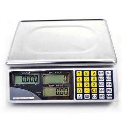 Digitalwaage Ladenwaage Paketwaage Preiswaage Waage Elektronik 30kg/5g