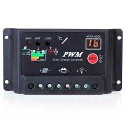 30A Solar Laderegle Solarregler, LCD-Anzeige 12V-24V PMW für Haus