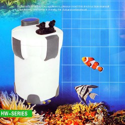 Außenfilter für Aquarium Clearwater 1400L/h 2m Laufruhig Schnellstart