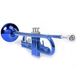Bb Trompete Mundstück Zubehör, blau, aus Kuper, mit Koffer, Anfänger