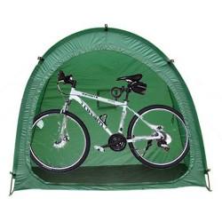 Fahrradgarage Fahrradhaus Schutzhülle Abdeckplane grün 200x80x160cm