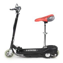 Elektroscooter Roller Kinderroller mit Sitz schwarz 100W 12km/Std.
