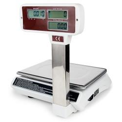 Digital Ladenwaage 30kg/5g Obst-Gemüsewaage, Tara/Nullsuche Funktion